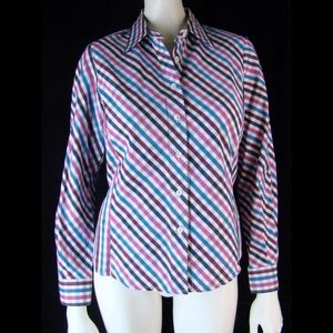Facconable  Shaped Cotton Button Down Shirt - S